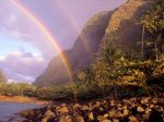 Double Rainbow, Kee Beach, Kauai, Hawaii